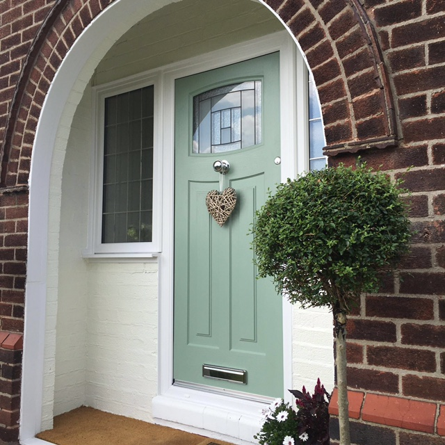 The Newark Ultimate Rockdoor has a traditional look which is in keeping with the house whilst giving all the benefits of a composite door-u0027Au0027 rated for ... & Rockdoor installation | Grappenhall Warrington. - Latchford Village ...