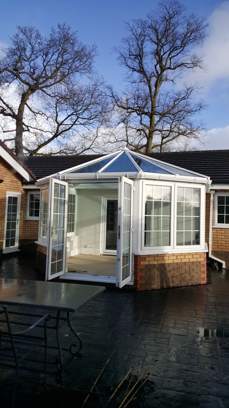 Conservatory Room Addition In The Uk 1040x1485 In 2020: Replacement Conservatory Roof And Composite Rockdoor